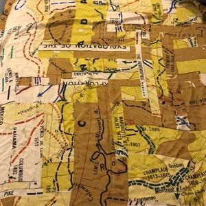 Madewell silk/wool/cashmere mapmaker scarf.